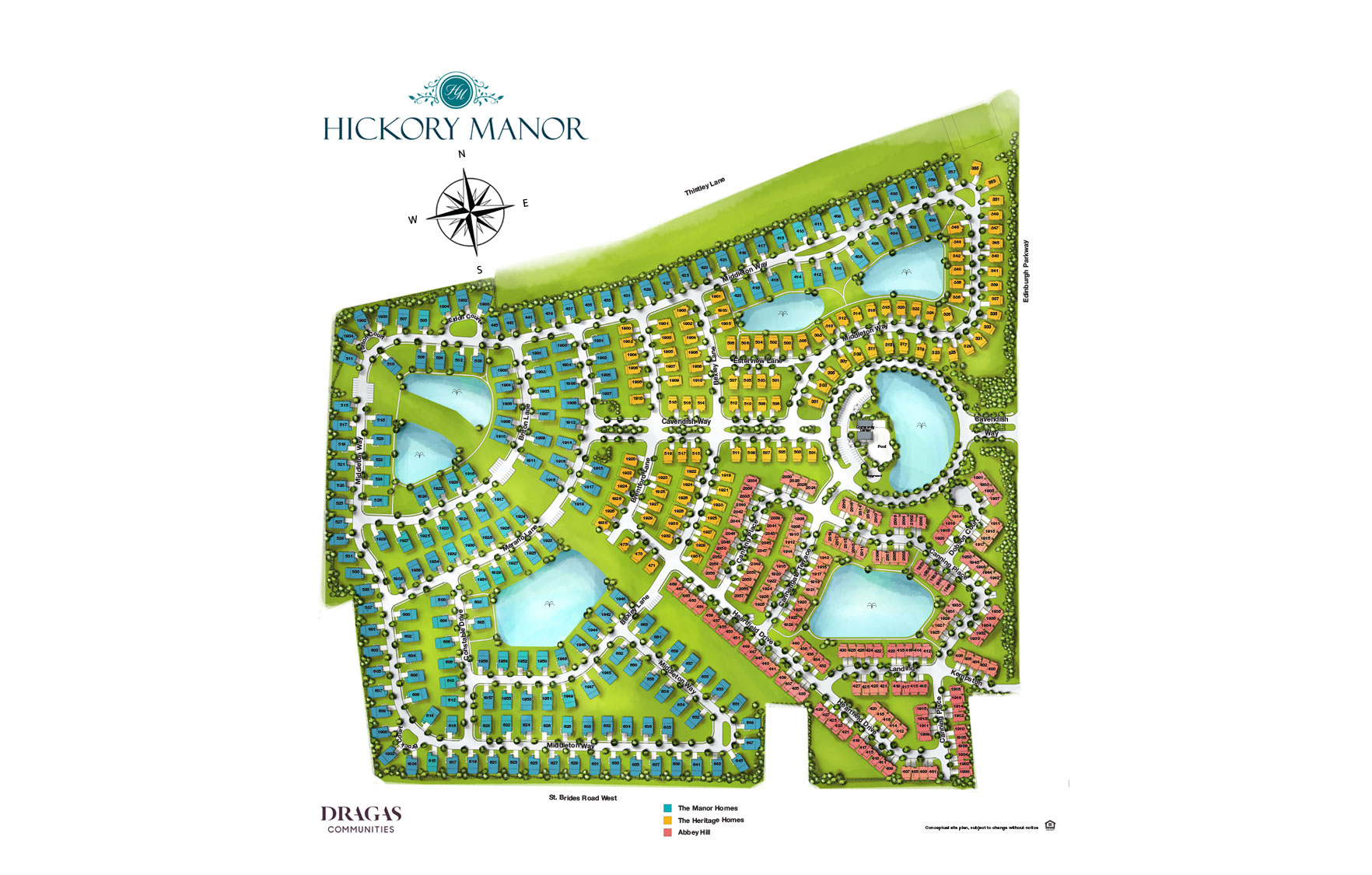Hickory Manor Community Siteplan