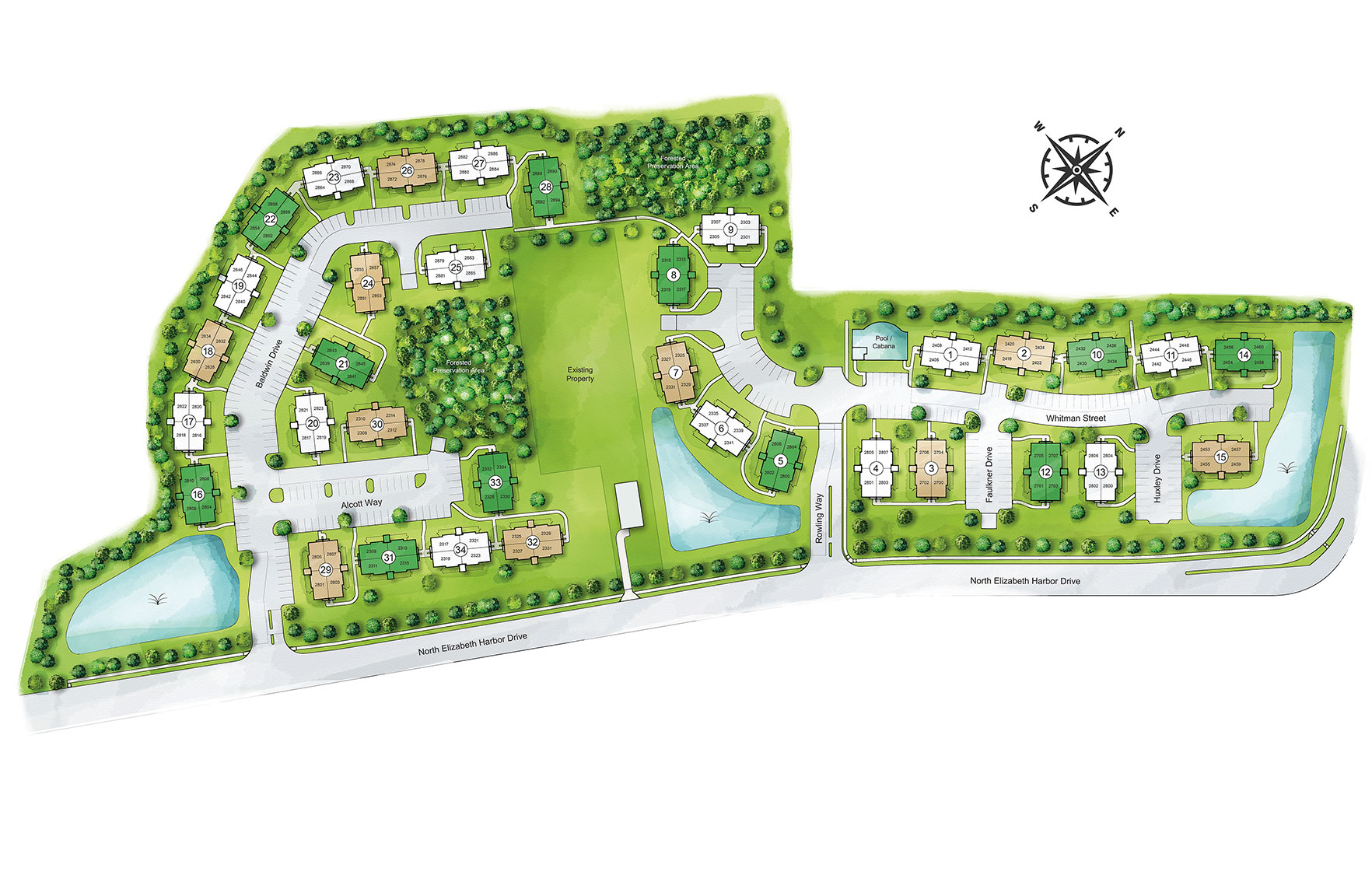 The Woodlands at Western Branch Community Siteplan